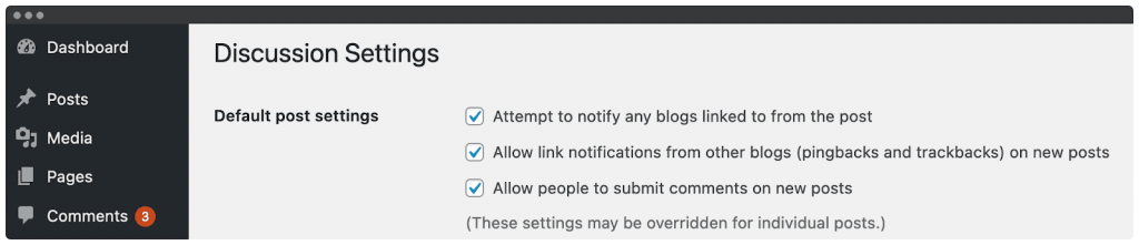 wordpress allow comments