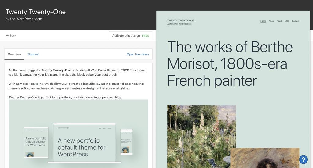 2021 WordPress Theme